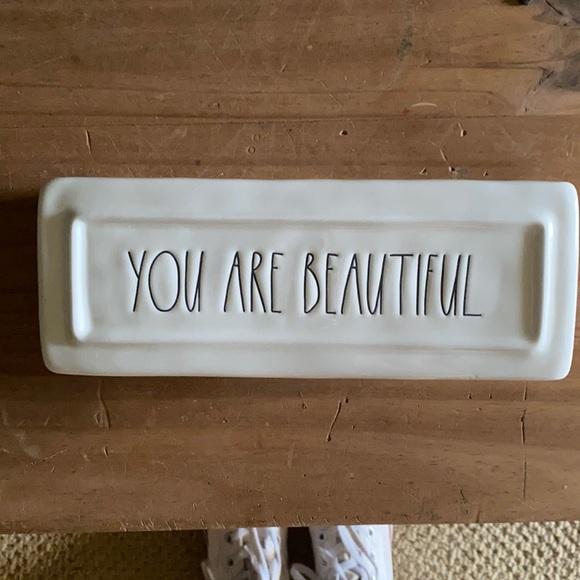 Ceramic YOU ARE BEAUTIFUL dish